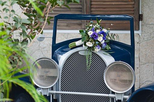 Bouquet, Old Car, Classic Car, Prop, Flower, Decor