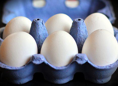 Egg, Egg Carton, White Eggs, Hen's Egg, Food, Egg Box