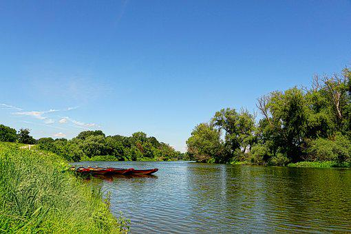 Nature, River, Boats, Landscape, Water, Riparian Zone