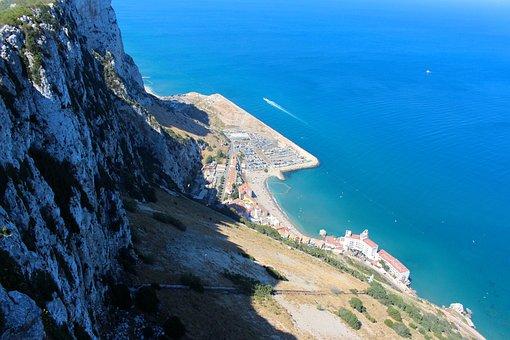 Gibraltar, Rock, Mediterranean, United Kingdom, Coast