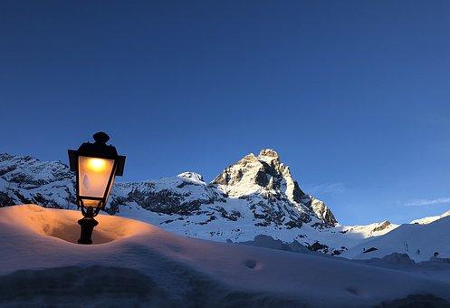Mount Matterhorn, Mountain, Cervinia, Light