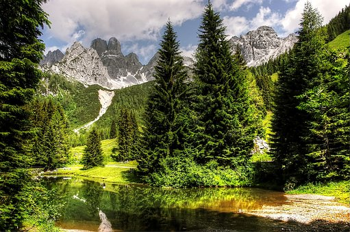 Almsee, Schladming, Lake, Nature, Landscape, Mountains