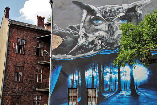 Murals, Old Houses, Graffiti, The Art Of, Poland