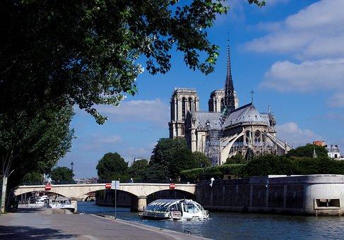 France, Paris, Notre Dame, Saine