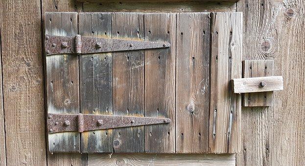 Door, Wooden Door, Wood, Grain, Stall, Stable-door