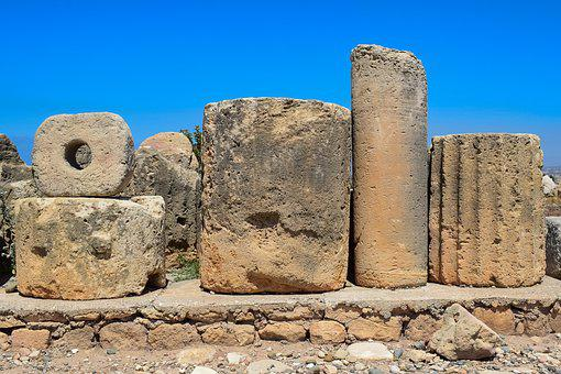Columns, Marbles, Stone, Architecture, Archeology