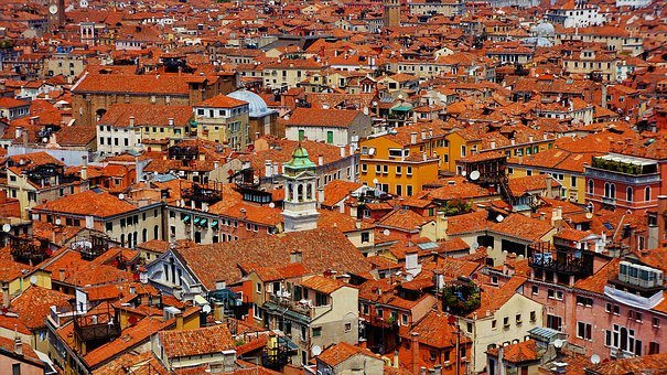 City, View, Architecture, Panorama, Houses, Street, Old