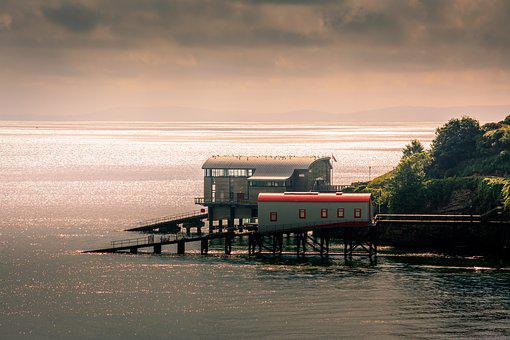 Tenby, Lifeboat Station, Seascape, Wales, Summer