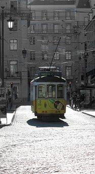 Lisbon, Lisboa, Tram, Tram 28, Cobbles, Portugal