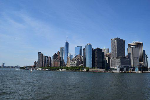 New York City, Skyline, New York, Manhattan, Usa, City