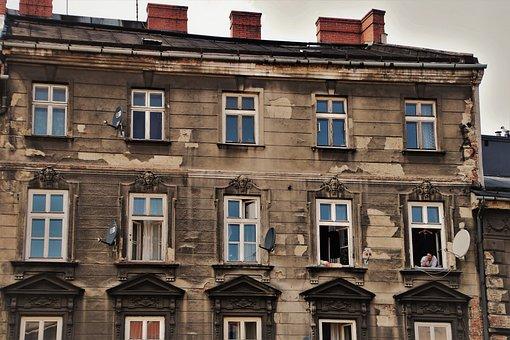 Old House, Facade, Architecture, Wall, Façades