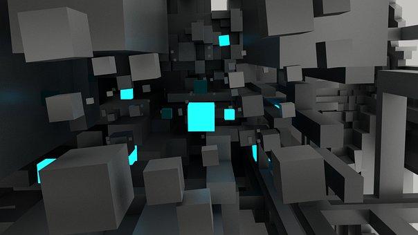 Cube, Technology, Fantasy, 3d Art
