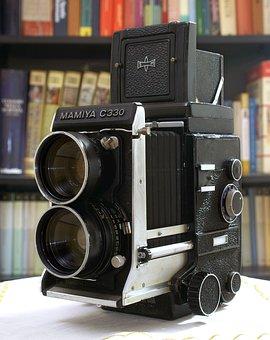 Camera, Mamiya, C330, 6x6, Tlr, Vintage, Photo, Film