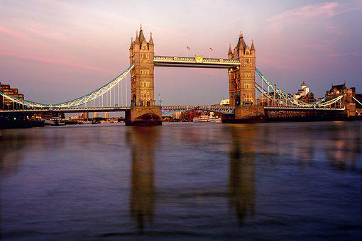 Bridge, London, Tower Bridge, Architecture, England