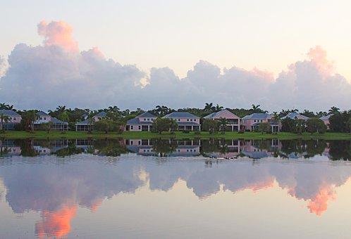 Sky, Lake, Architecture, Landscape, Clouds, Nature