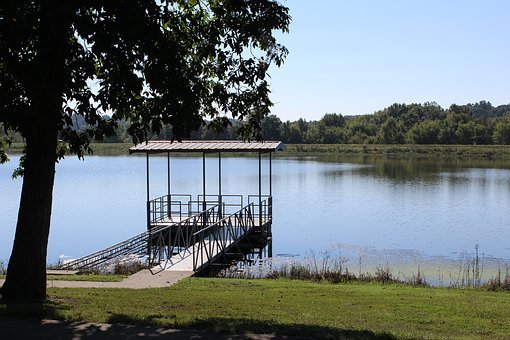 Boat Dock, Lake, Water, Nature, Sky, Landscape