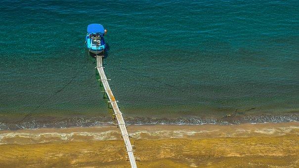 Jetty, Dock, Pier, Boat, Fishing Boat, Beach, Sea