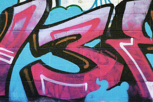 Brick Wall, Brick, Brick Background, Graffiti Art