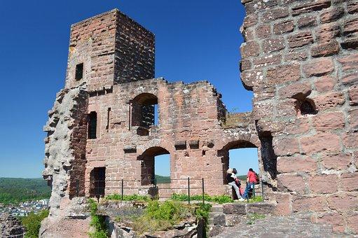 Castle, Keep Of Alt-dahn, Palatinate Forest