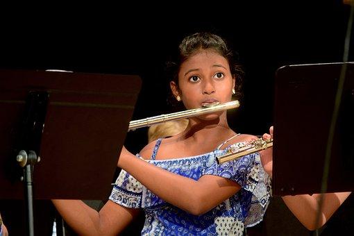 Child, Girl, Musician, Concert, Flute, Music