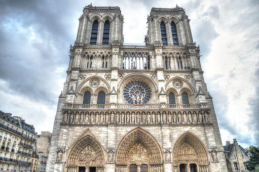 Paris, Church, France, Architecture, Cathedral