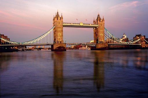 Bridge, London, Tower Bridge, Architecture, England