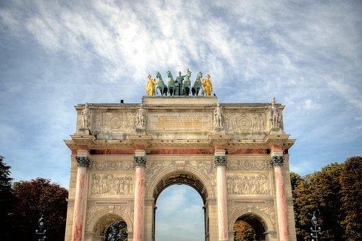 Paris, Arc, Architecture, Landmark, Monument, Famous