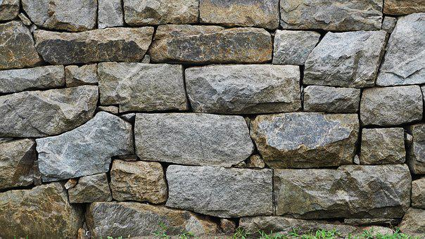 Stone Wall, Structure, Wall, Background, Front