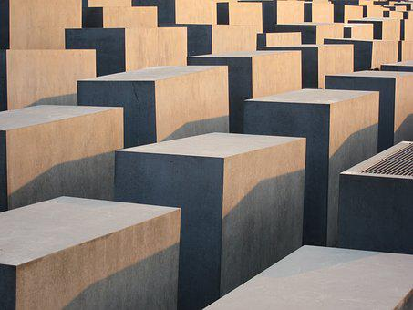 Sunset, Berlin, Monument, Memorial, Holocaust Memorial