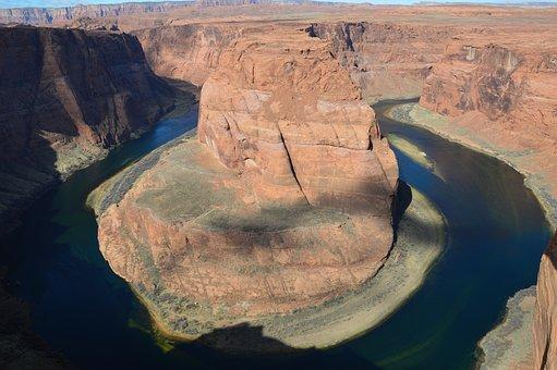 Horse Shoe, Colorado River, River, Usa, Water, Canyon