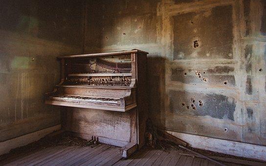 Piano, Abandoned, Keyboard, Forgotten, Old, Mood