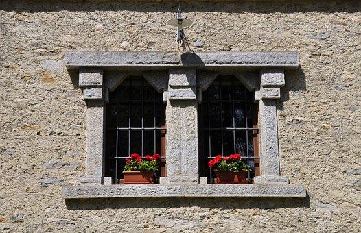 Window, Mullioned, Stone, Italy, Palazzo, Monument