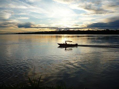 Amazonia, Madeira River, Nature, Brazil, Water, Boat