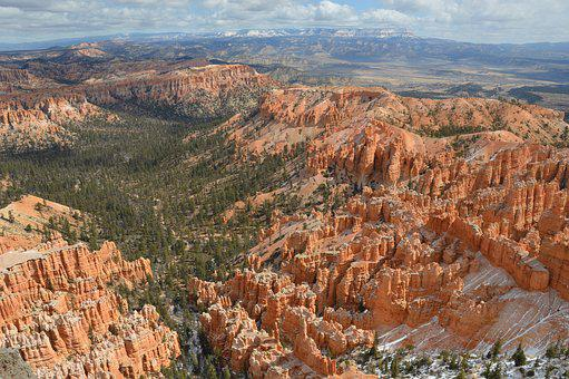 Bryce Canyon, Snow, Winter, Nature, Landscape