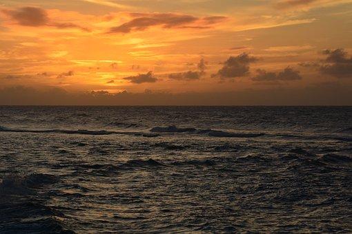 Hawaii, Sunset, Summer, Ocean, Travel, Sky, Paradise
