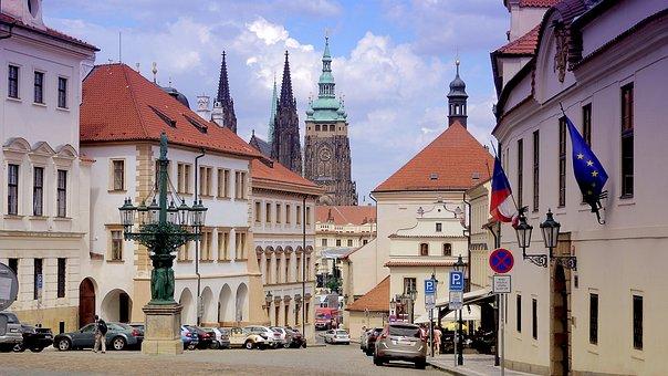 Castle, Prague Castle, Street, European Architecture