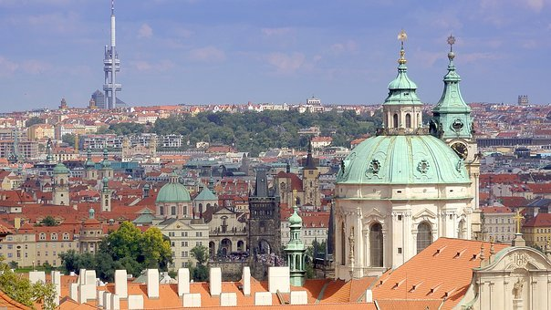 Prague, Panorama, Old Town, The Church Of St Nicholas