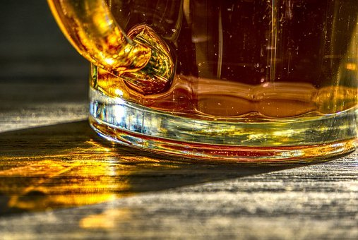Beer, Glass, Krug, Sunlight, Light, Reflection, Rays