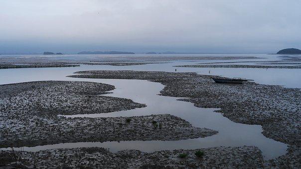 Times, Island, Sea, Tidal, Sand, Coast, Coastal, Nature