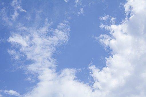 Sky, Blue, Cloud, White, Fluffy, Cotton, Clean, Oxygen