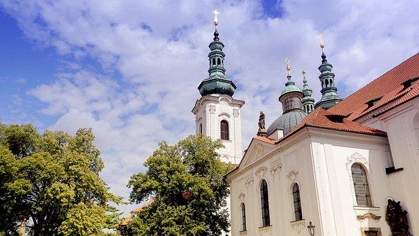 Strahov Monastery, Strahov, Prague, Church, Steeple