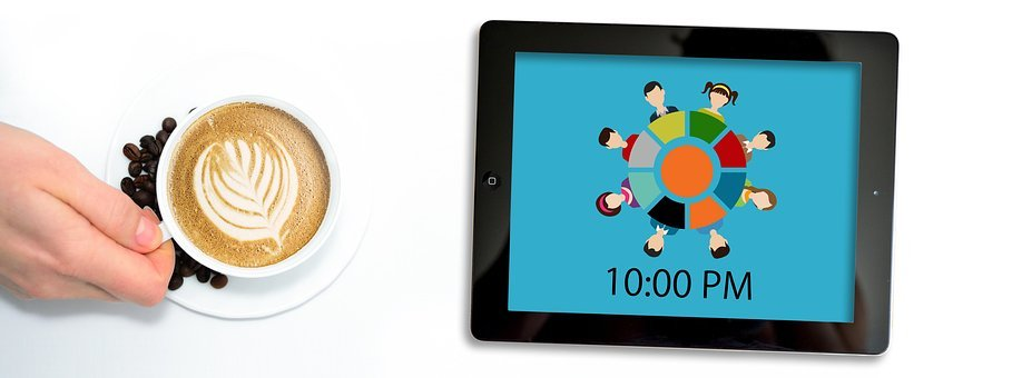 Cup, Coffee, Hand, Keep, Time, Memory, Tablet, Team