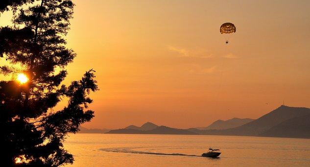 Croatia, Cavtat, Marine, Sky, Water, Beach, Tourism
