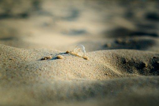 Sand, Bubbles, Summer, Beach, Sea, Water, Lake, Wave