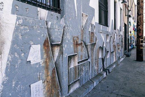 Graffiti Art, Graffiti Wall, Abstract, Grunge