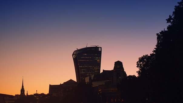 London, Walkie-talkie, Sunset, Building, Architecture