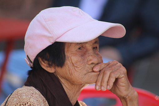 Thai, Elderly, Woman, Old, Asia