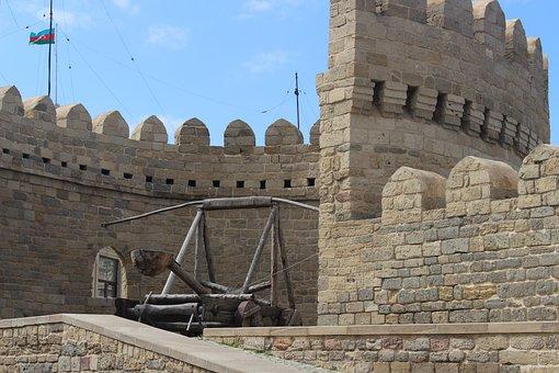 Baku, Azerbaijan, Girl's Castle, Sky