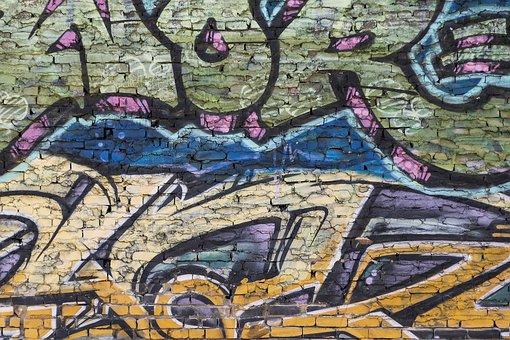 Brick, Brick Wall, Brick Background, Graffiti