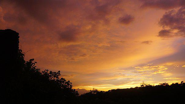 Cloud, The Sky, Sunset, Color, Gorgeous